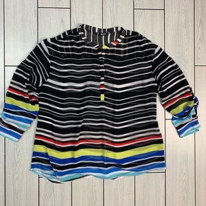 ✨🖤💙❤️ Striped Out Sheer Ana Top✨✨